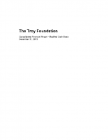 Troy Foundation Financial Statements – 2015